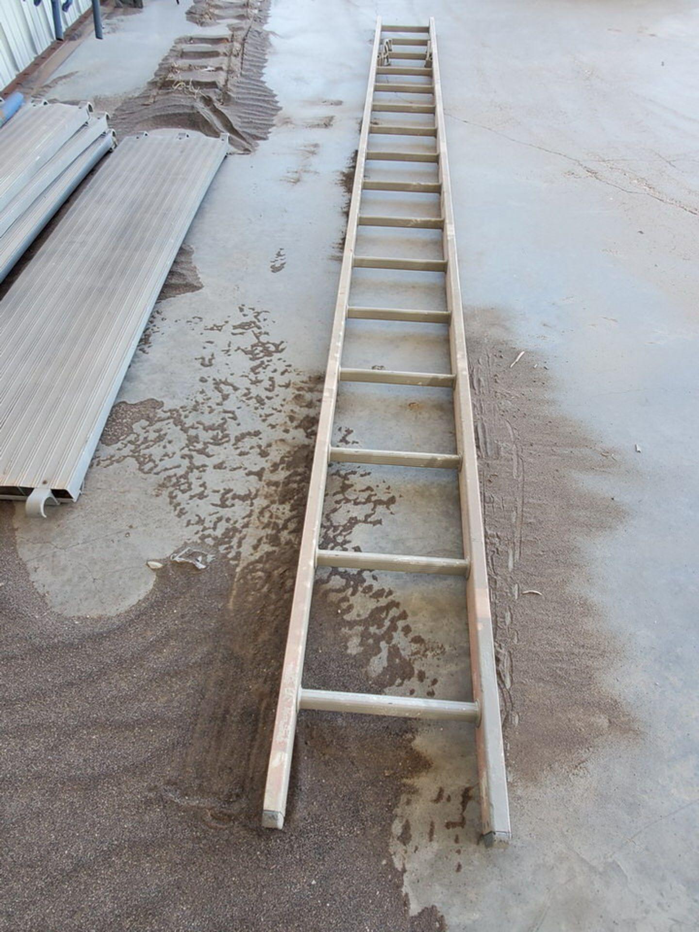 Scaffold W' 16' Fixed Alum. Ladder - Image 4 of 10