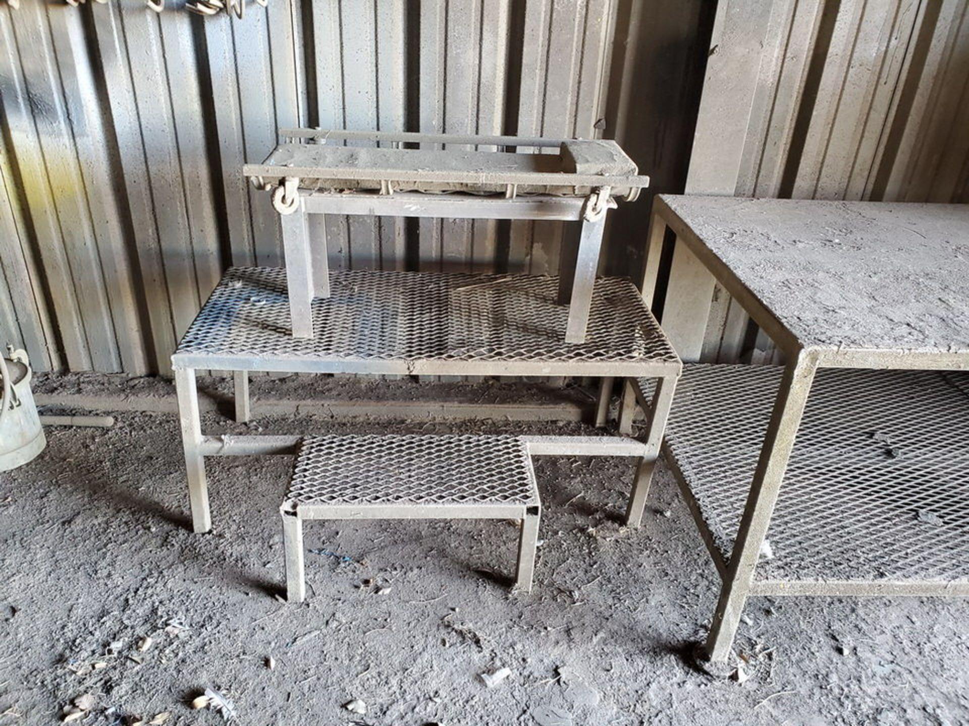 "Table & Platforms Size Range: 12"" x 30"" x 14"" - 40"" x 72"" x 33""; W/ Creeper Seat - Image 3 of 5"