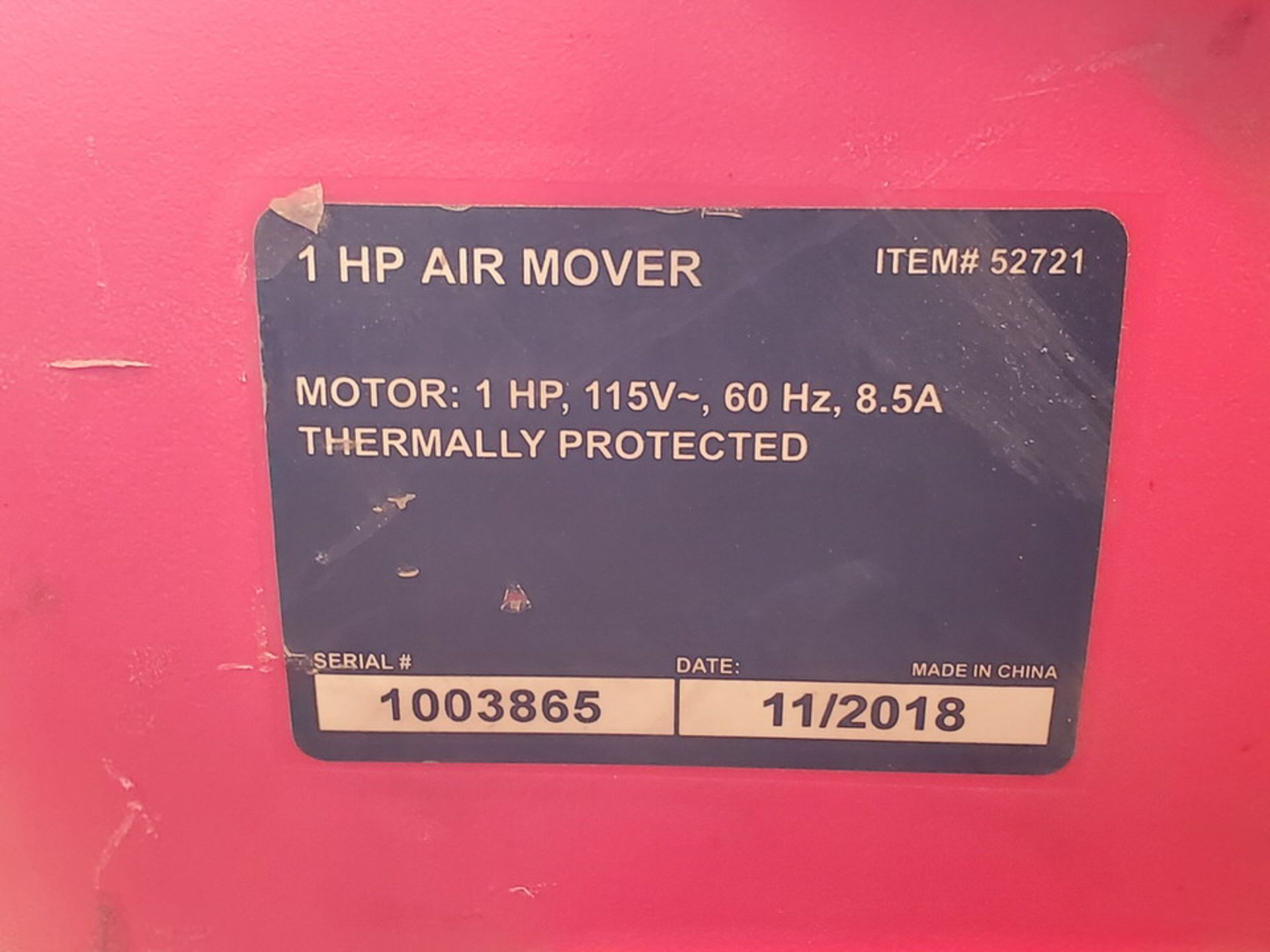 Strongway & Ironton (4) Air Blowers (3) 115V, 1HP, 8.5A; (1) 120V, 3.8A, 430W, 1300RPM - Image 5 of 5