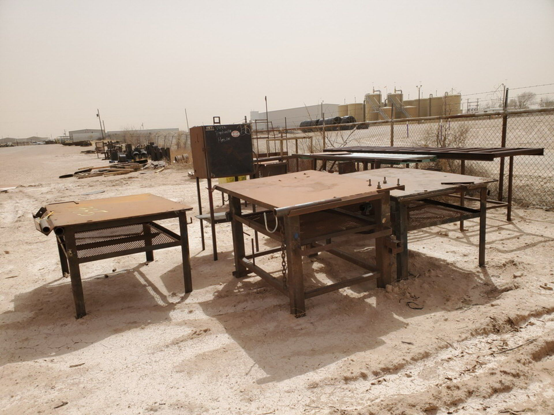 Assorted Matl. To Include But Not Limited To: (3) Welding Tables, Rolling Conveyor, Storage - Image 3 of 11