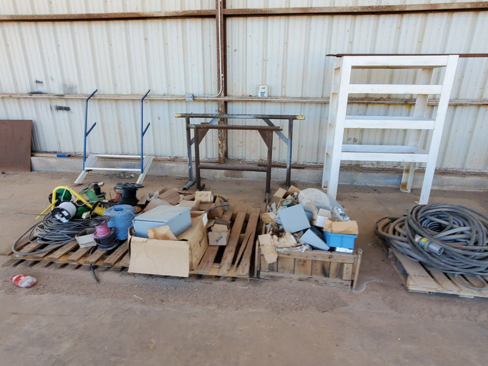 Misc. Matl. To Include But Not Limited To: Lift Basket, Welding Table, Sheet Metal, Ele Wire, Rope - Image 8 of 13