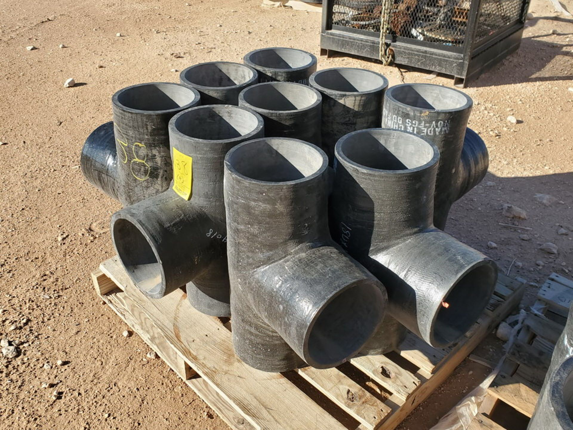 "(9) 8"" Fiberglass Tees - Image 2 of 4"
