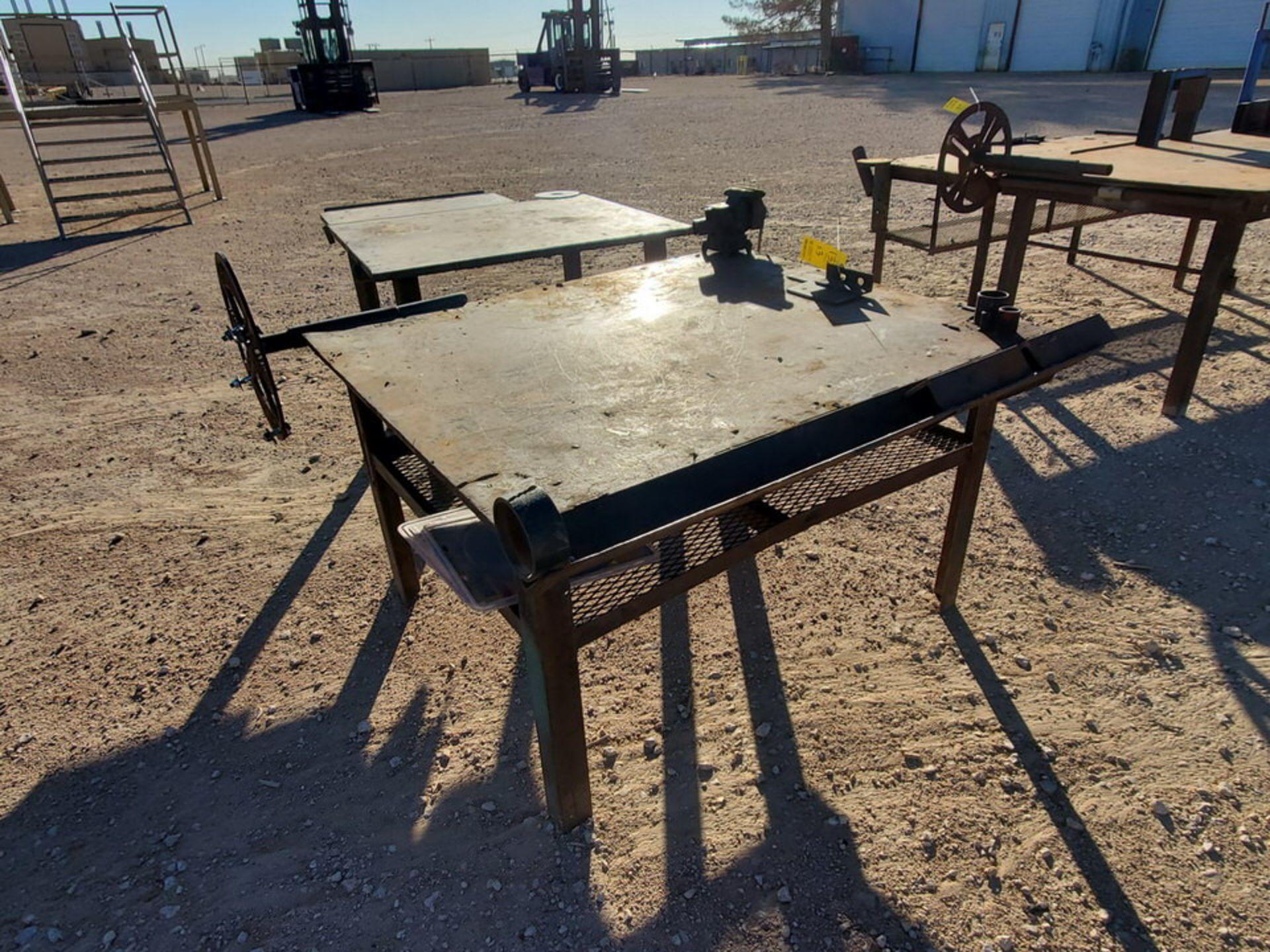 "(2) Stl Welding Tables (1) 60"" x 54"" x 34""H, W/ 5"" Vise; (1) 48"" x 61-1/2"" x 36""H - Image 3 of 8"