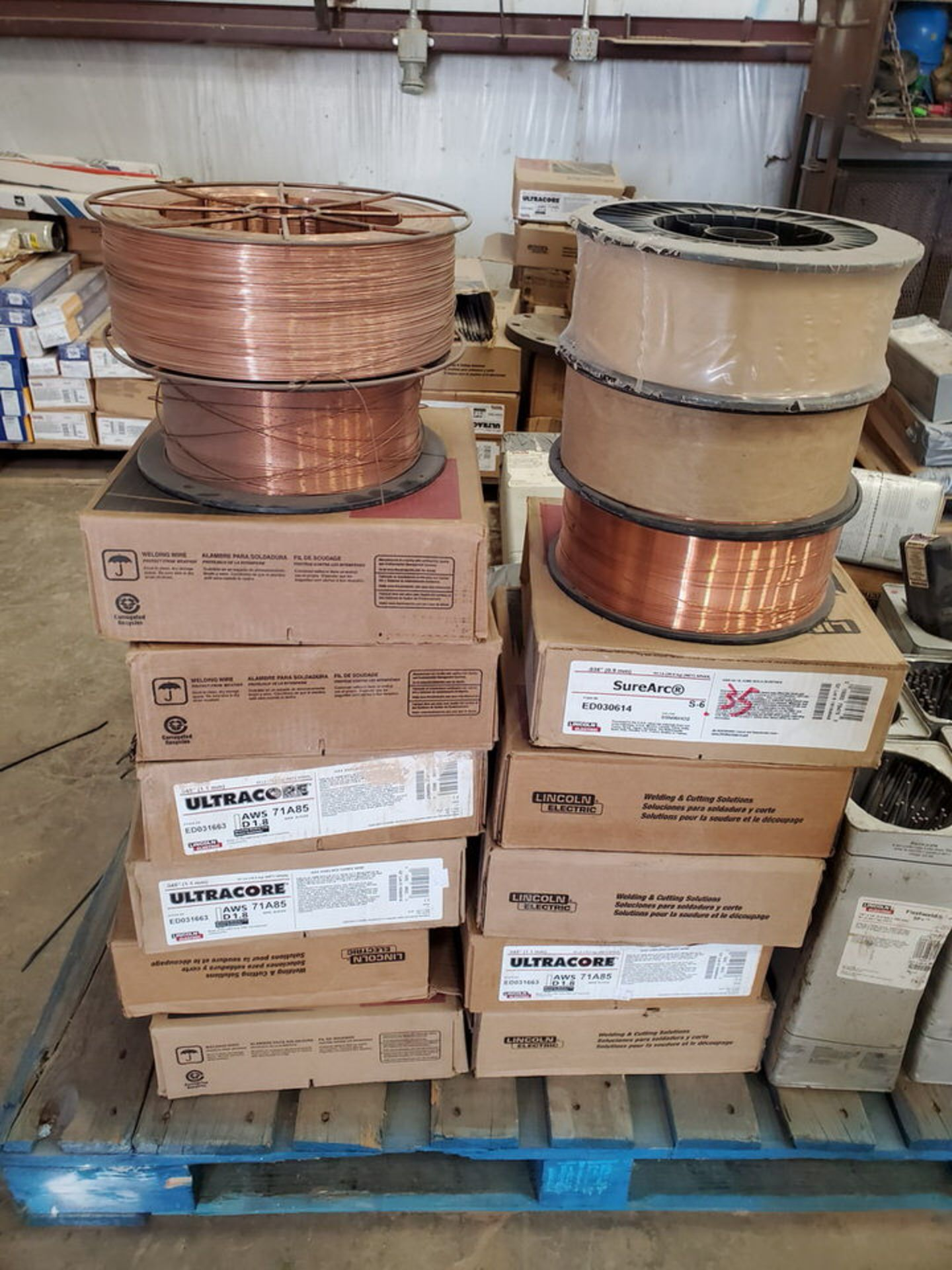 "LE & Radnor, etc. Assorted Welding Rods & Cored Spool Wire Size Range: 3/16"" x 12"" - 3/16"" 14"" - Image 9 of 12"