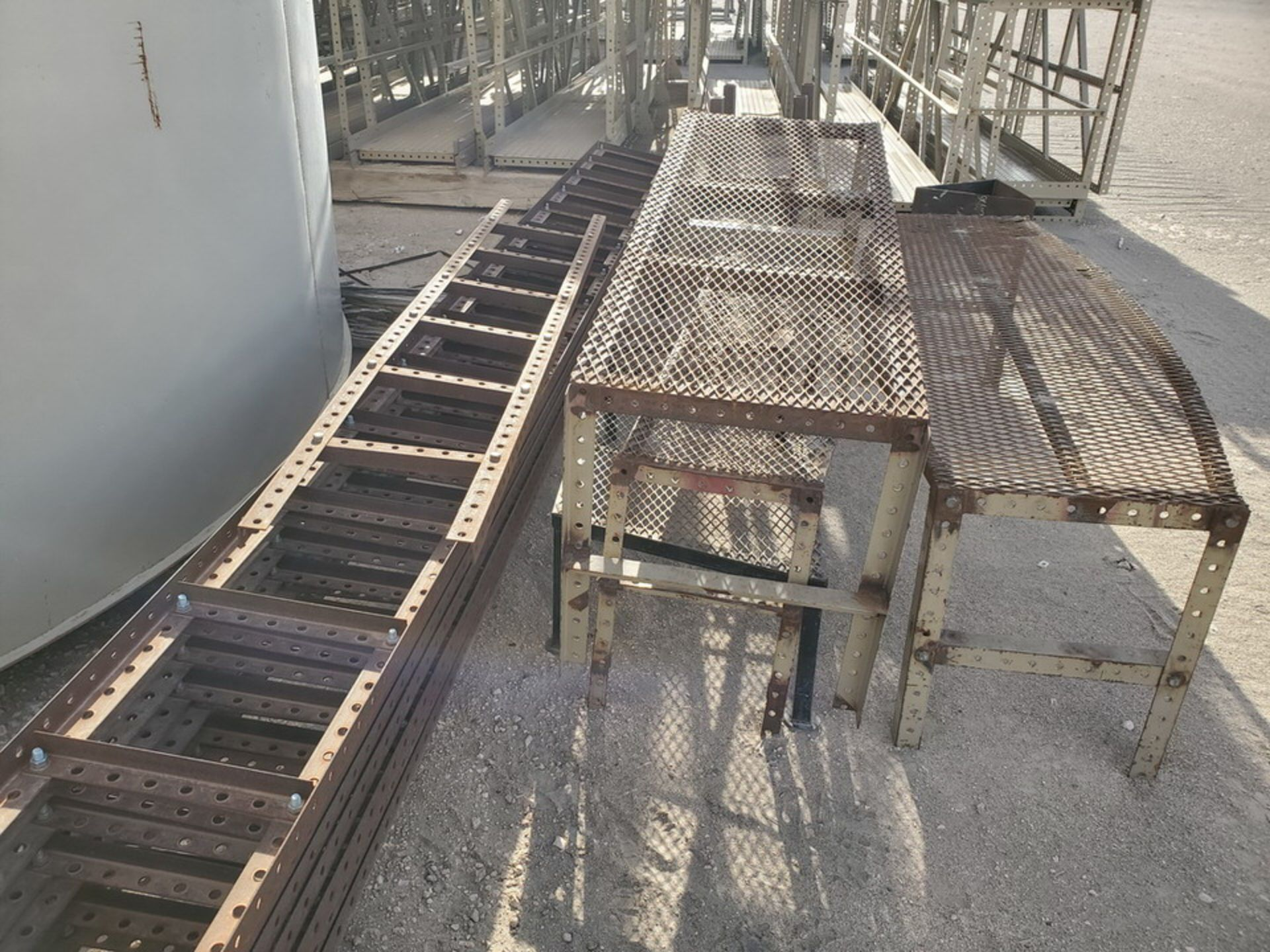 "Assorted Stl Matl. Racks & Ladders Size Range: 30"" x 26"" x 25""H - 29"" x 48"" x 50""H - Image 10 of 18"