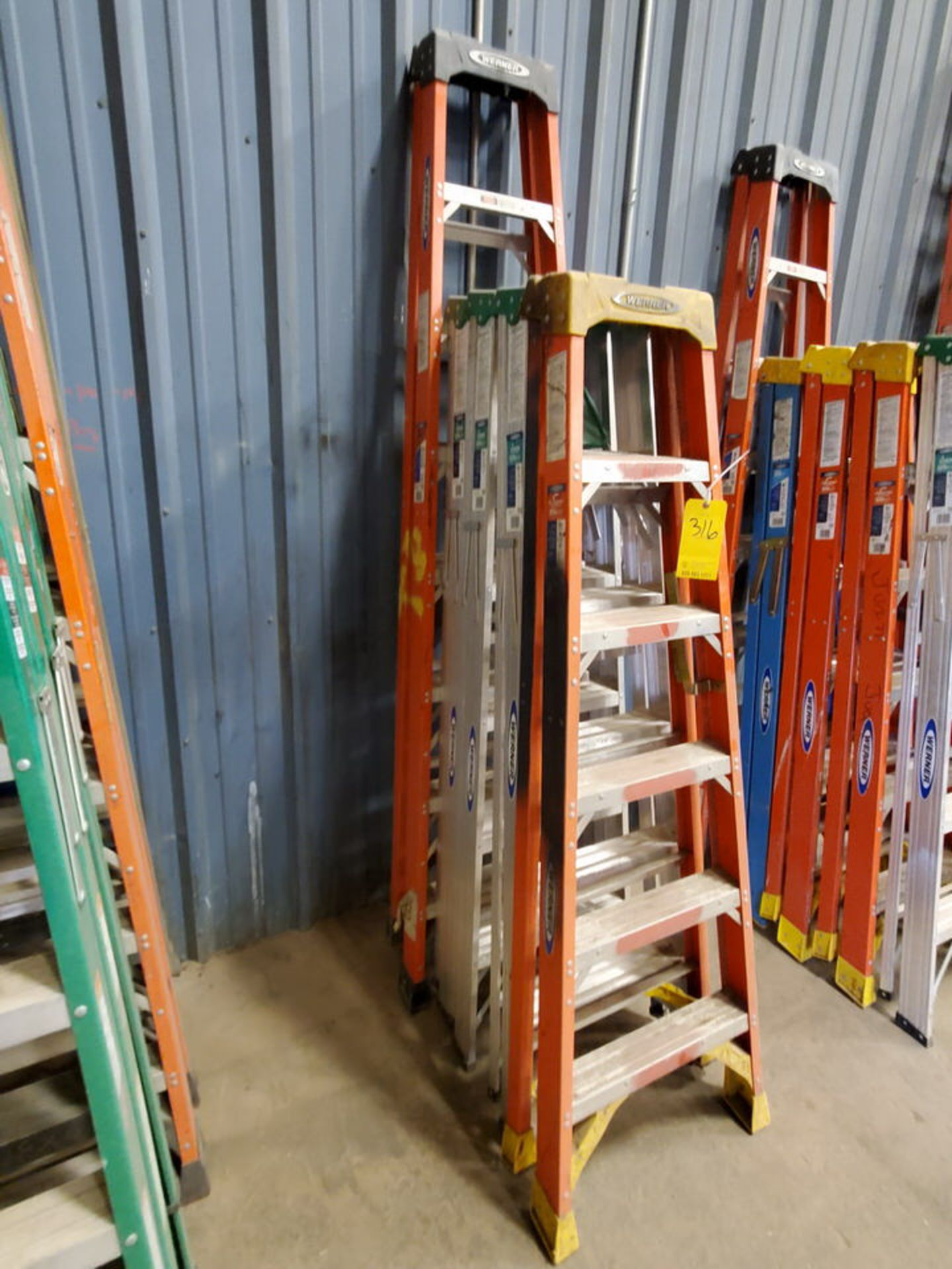 (5) Alum. Platform Ladders 8', (4) 6' - Image 2 of 3