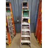 (5) Alum. Platform Ladders 8', (4) 6'