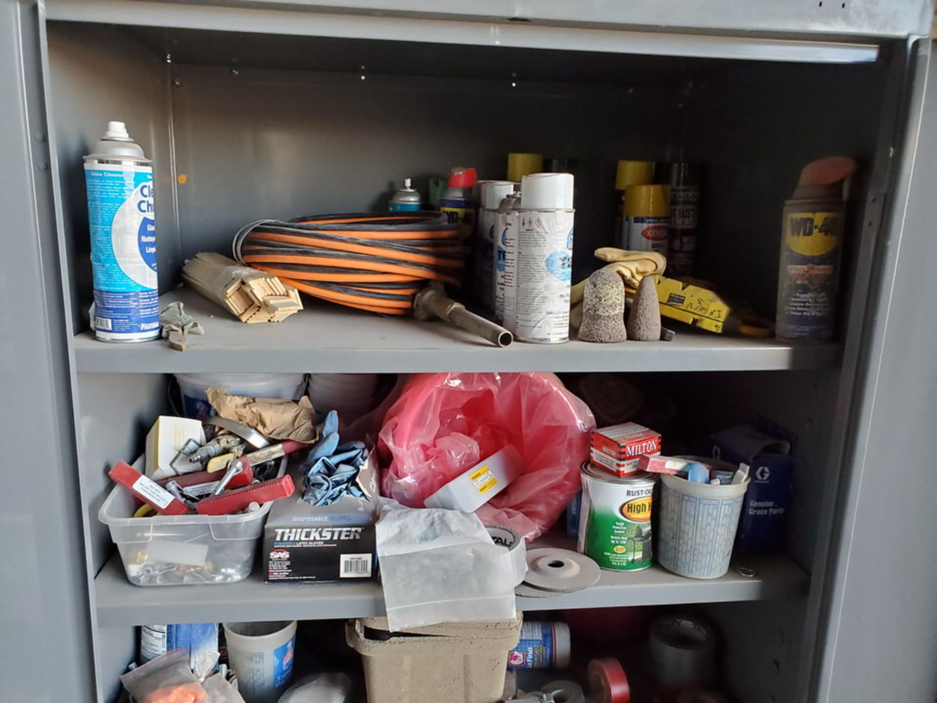 (2) Metal Storage Lockers To Include But Limited To: Lubricants & Paints, Assorted Fittings, Air - Image 9 of 9