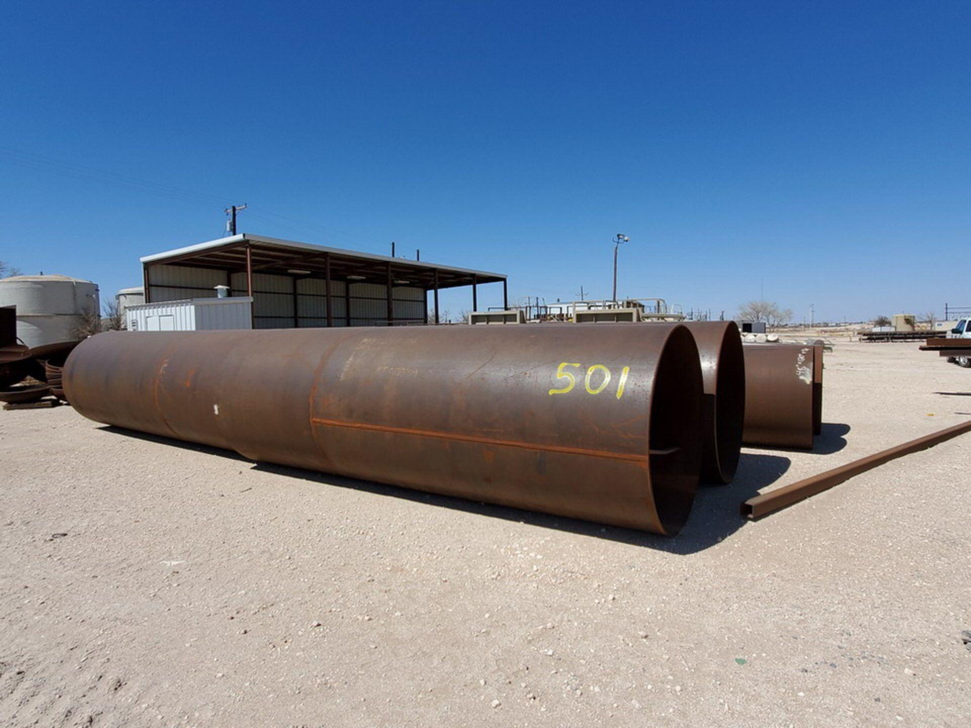 "(12) Tank Cylinders Size Range: 36"" - 60""O.D., 10' - 15'L"