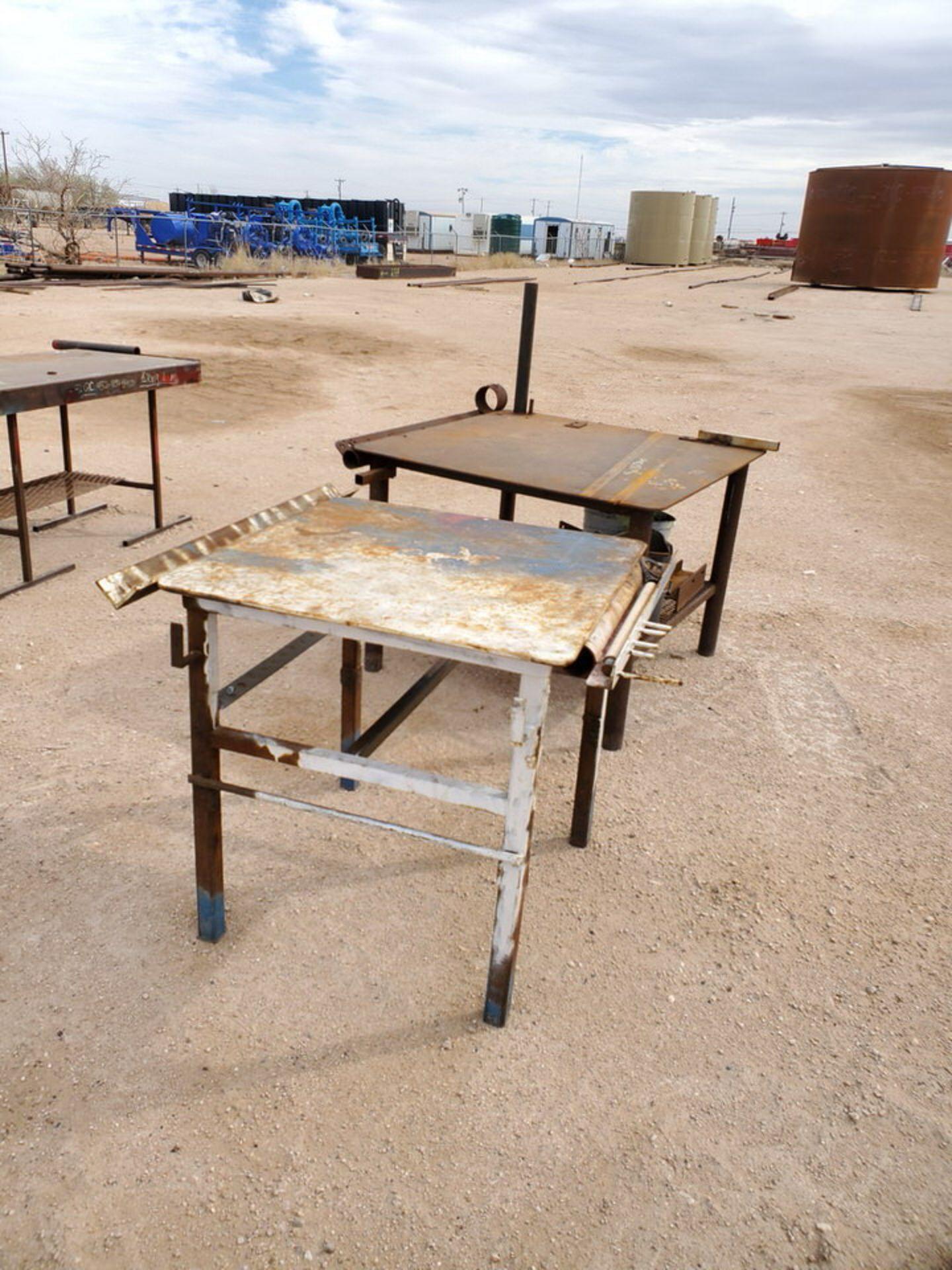 "(2) Stl Welding Tables (1) 43"" x 48"" x 36"", (1) 39"" x 36"" x 36"" - Image 3 of 5"