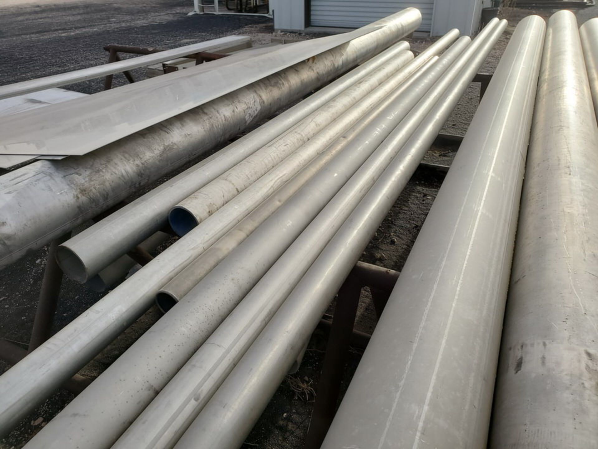 Assorted Matl. To Include But Not Limited To: S/S Flat Bar, Pipe & Sheets (Rack Excluded) - Image 12 of 22