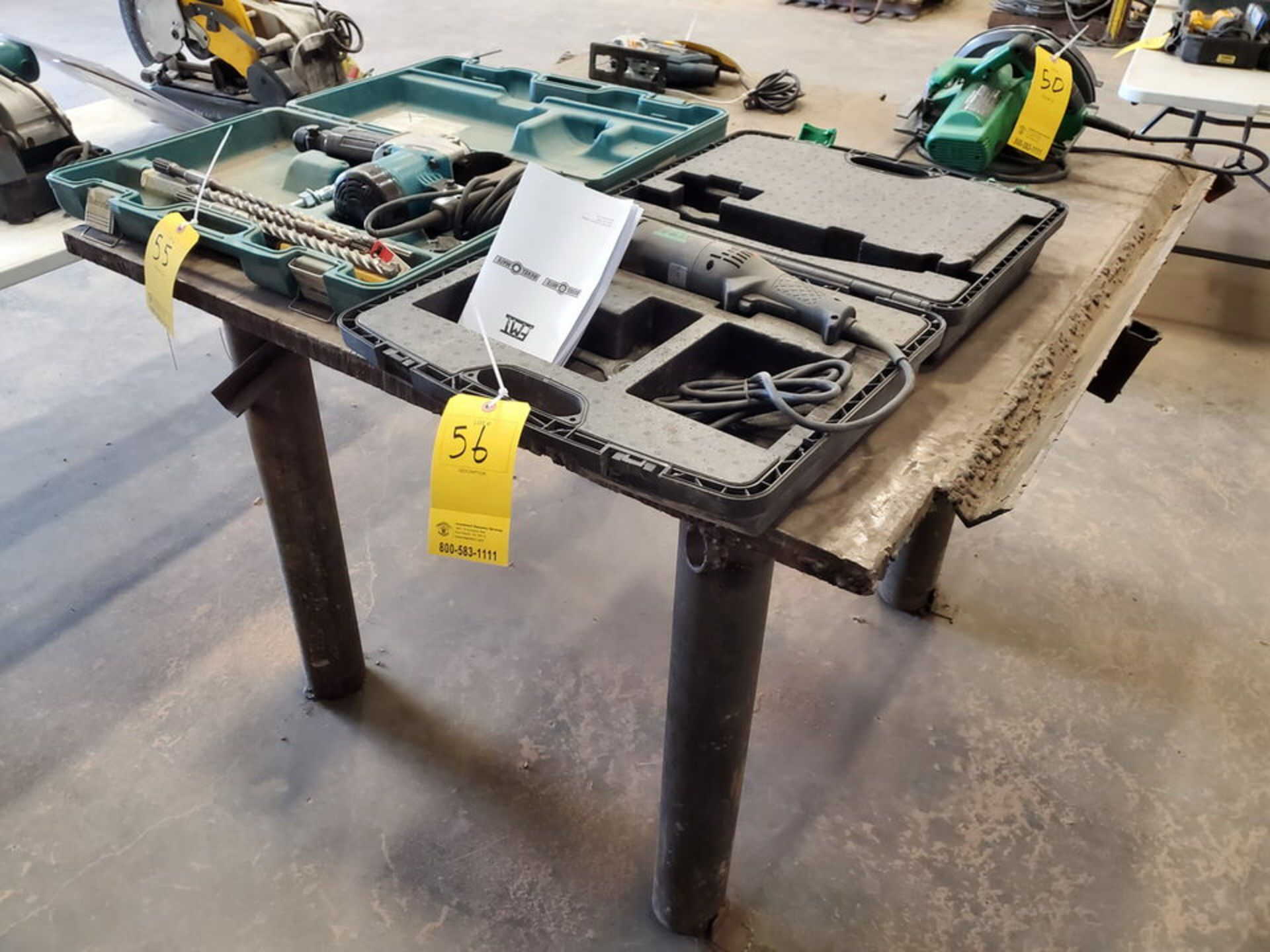 """(2) Stl Welding Tables (1) 72"""" x 72"""" x 37'H; (1) 51"""" x 54"""" x 37""""H - Image 7 of 8"""