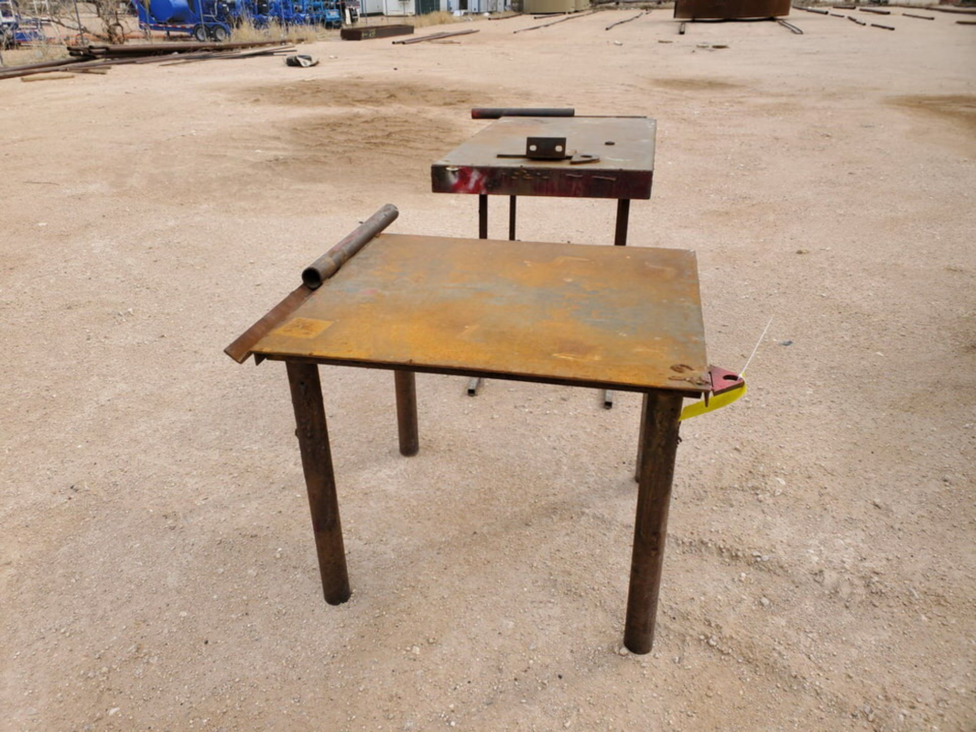 """(2) Stl Welding Tables (1) 36"""" x 43"""" x 30"""", (1) 60"""" x 29"""" 36"""" - Image 2 of 6"""