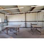 "Welding Tables (1) 37"" x 65"" x 36"", W/ 5-1/2"" Vise, (1) 72"" x 64"" x 38"""