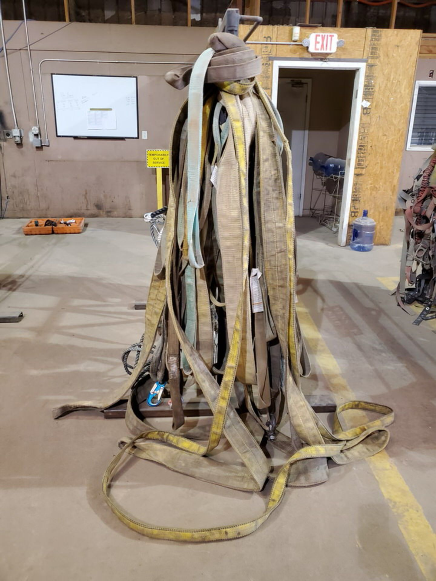 Assorted Lifting Poly Slings, Rope W/ Rack - Image 6 of 7