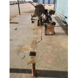 "18"" Chop Saw 10HP, 3450RPM, 230V, Baldor Motor; W/ Rolling Conveyor, 10' x 16-1/2"""