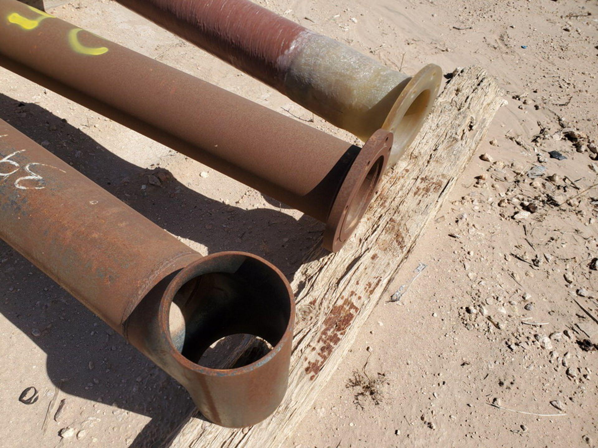 "Flanged Pipe 8"" x 7'6""; (2) Stl, (1) Fiberglasss - Image 5 of 8"
