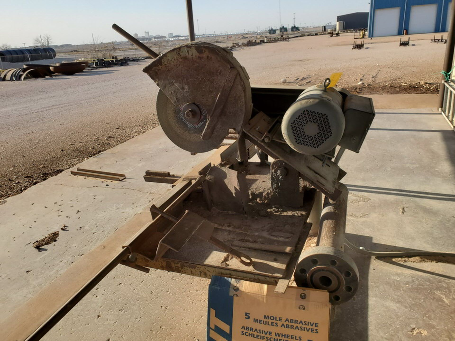 "18"" Chop Saw 10HP, 3450RPM, 230V, Baldor Motor; W/ Rolling Conveyor, 10' x 16-1/2"" - Image 5 of 11"