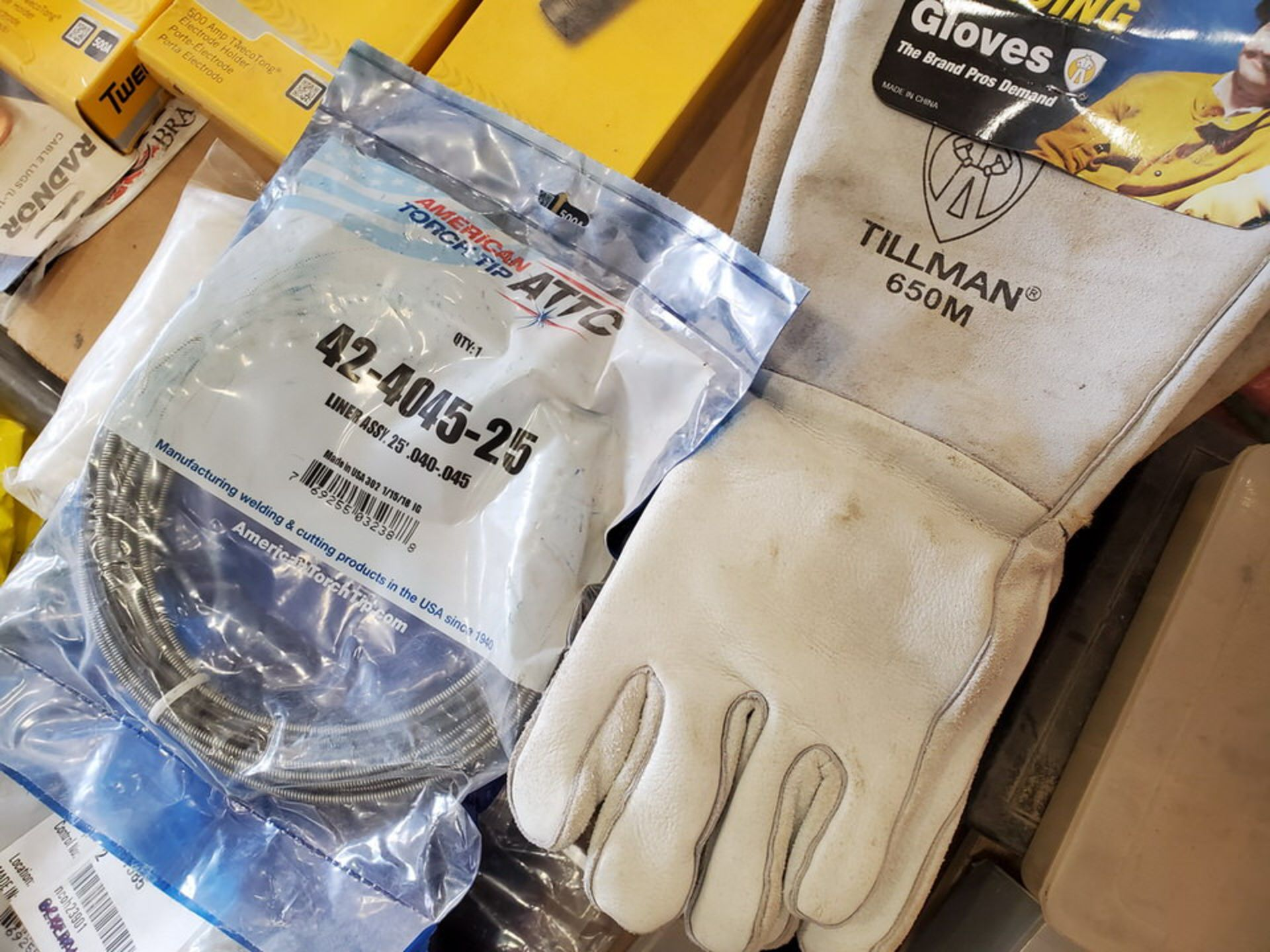 Assorted Welding Material To Include But Not Limited To: Electrode Holders, Gloves, Hoses, Rods, - Image 6 of 12