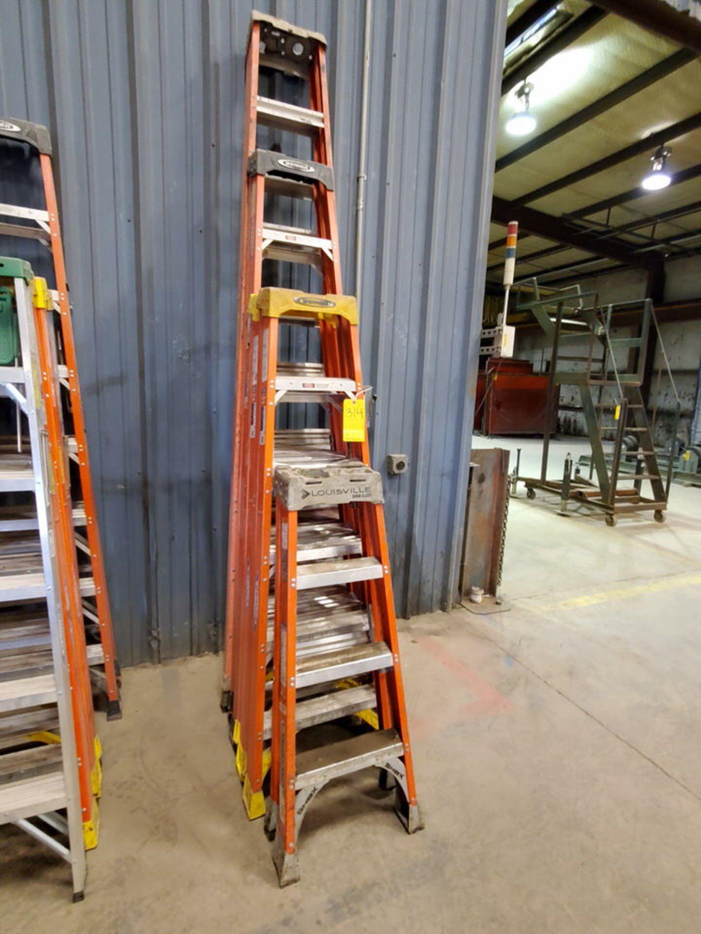 (5) Alum. Platform Ladders 10', 8', (2) 6', 4'