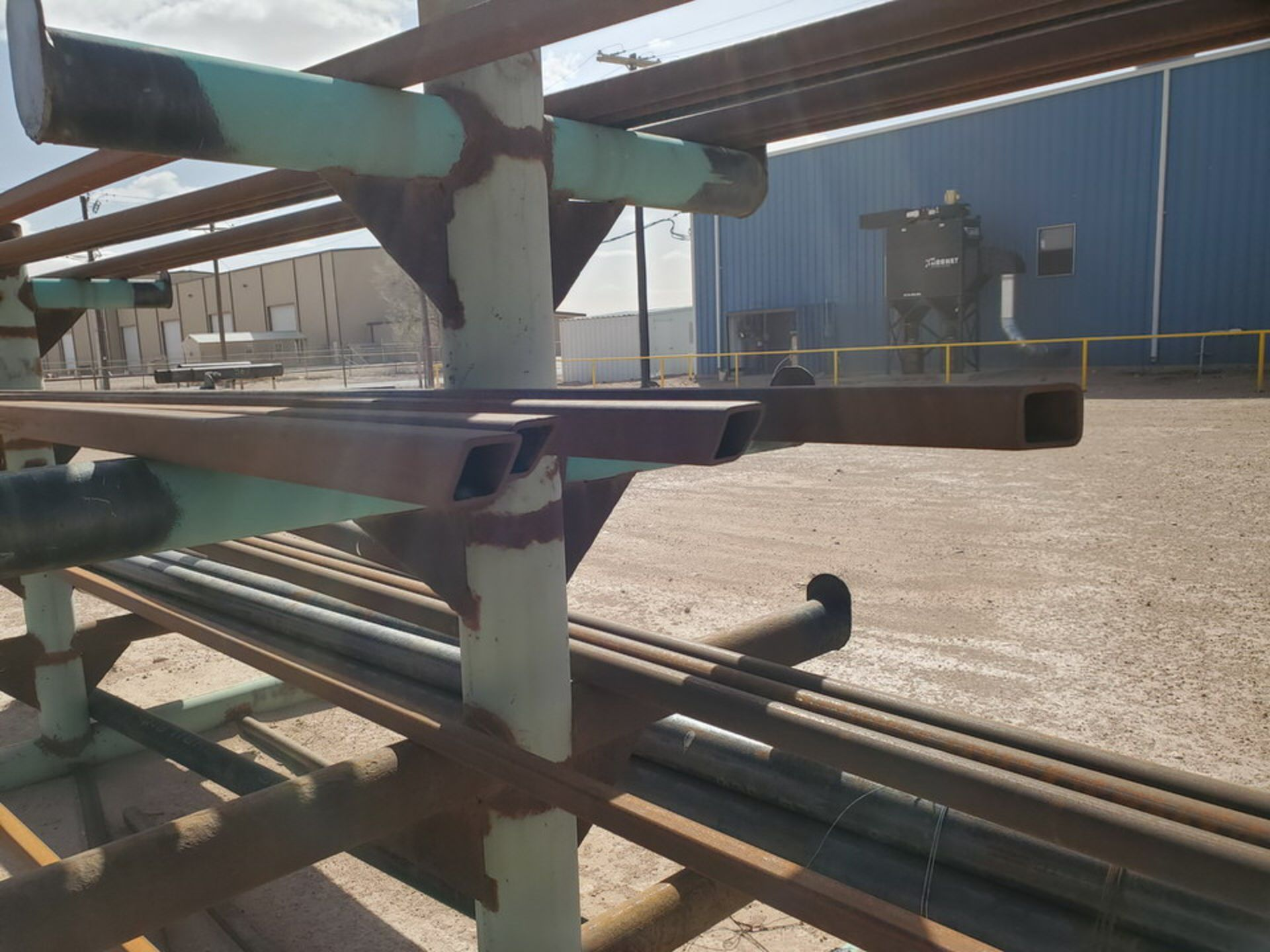 """(25) Pipe, Sq. Tube & Other D: 1-1/2""""-4""""; L: 15'-21'; W/ Racks - Image 10 of 14"""
