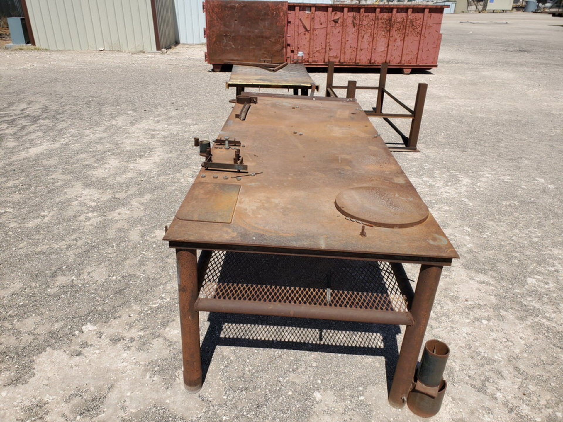"(2) Welding Tables (1) 4' x 10'6"" x 3', (1) 48"" x 76"" x 32""; W/ Table Frame, 42"" x 78"" x 36"" - Image 3 of 8"