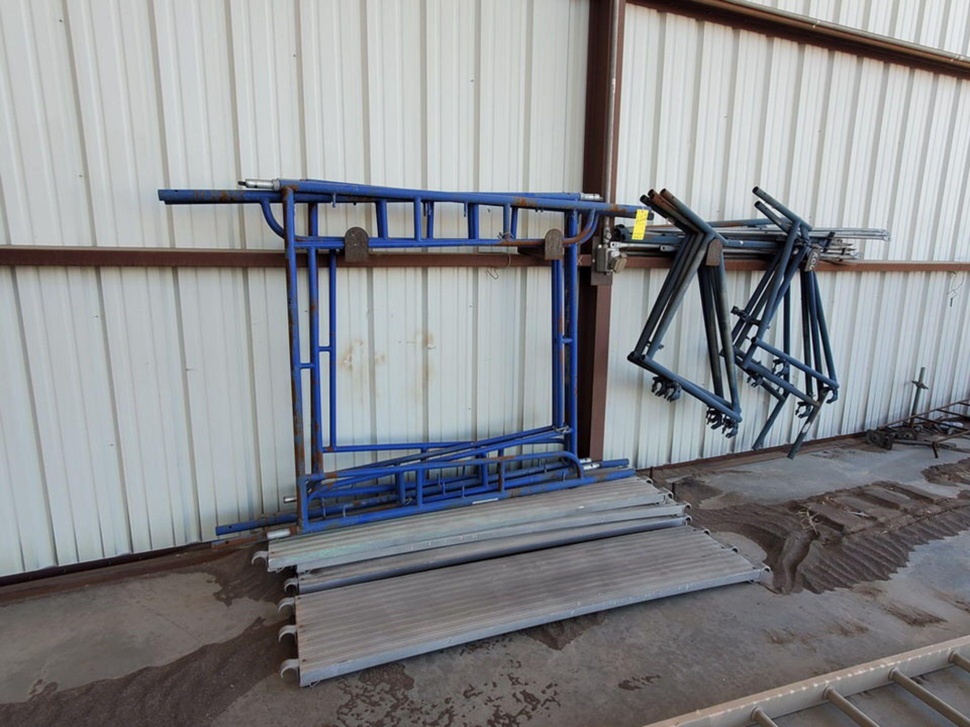 Scaffold W' 16' Fixed Alum. Ladder - Image 3 of 10