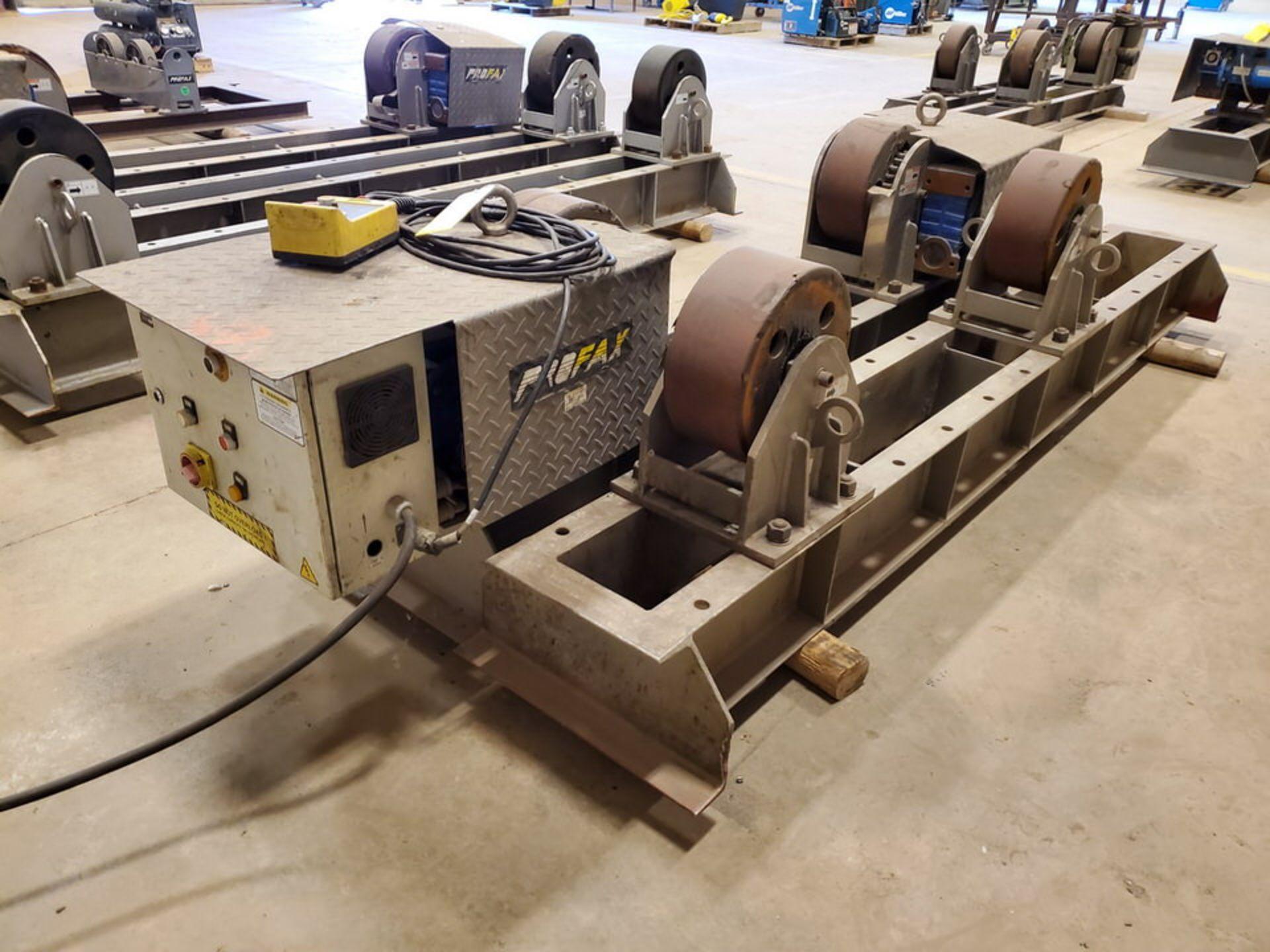 "Profax TR-40000 Turn Roll 40K Cap., 440V, 15A, 50/60HZ, 3PH, RPM: 0-1.7, 6"" Wheel Dia"