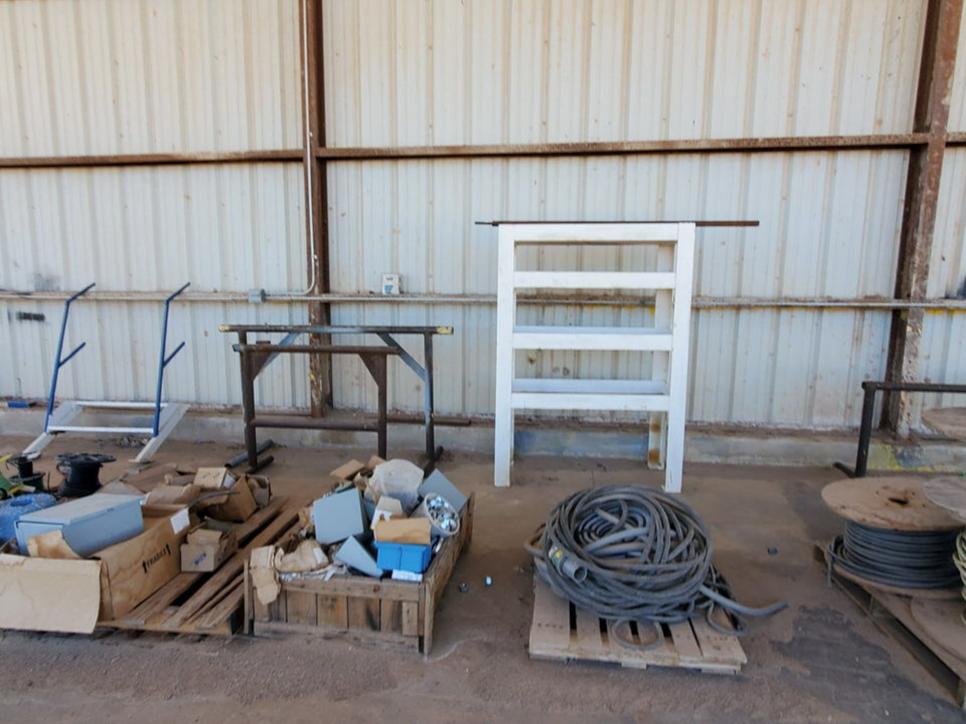 Misc. Matl. To Include But Not Limited To: Lift Basket, Welding Table, Sheet Metal, Ele Wire, Rope - Image 7 of 13