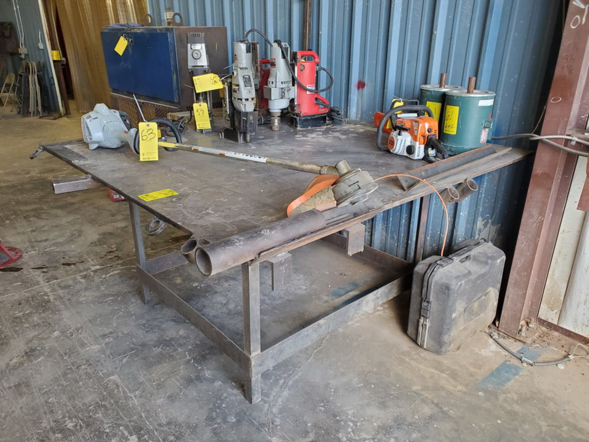 """(2) Stl Welding Tables (1) 72"""" x 72"""" x 37'H; (1) 51"""" x 54"""" x 37""""H - Image 3 of 8"""