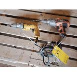 "Dewalt & Black & Decker (2) 1/2"" VSR Drill 120V, 7A"