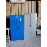 (2) Metal Storage Lockers To Include But Limited To: Lubricants & Paints, Assorted Fittings, Air