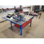 """Stl Welding Table W/ 6"""" Vise 48"""" x 70"""" x 35""""H (Material Excluded)"""