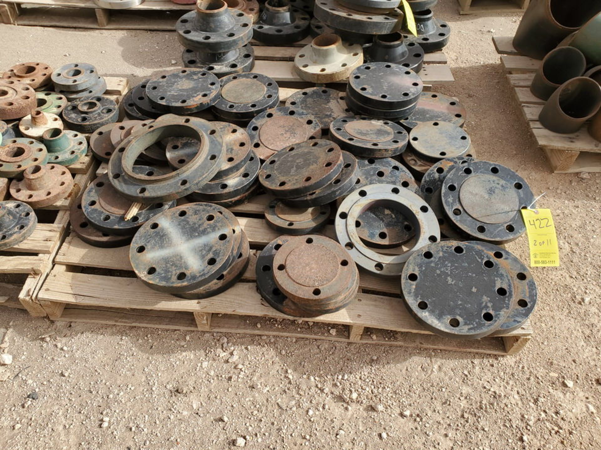 "Assorted Flanges (11) Pallets, Size Range: 1"" - 10"" - Image 4 of 32"