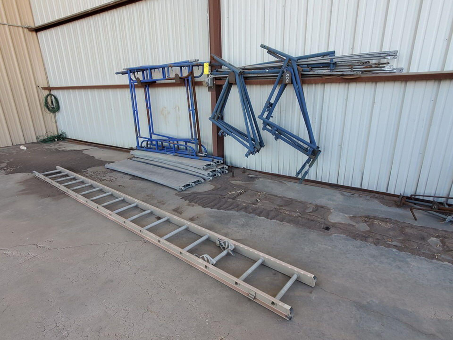 Scaffold W' 16' Fixed Alum. Ladder