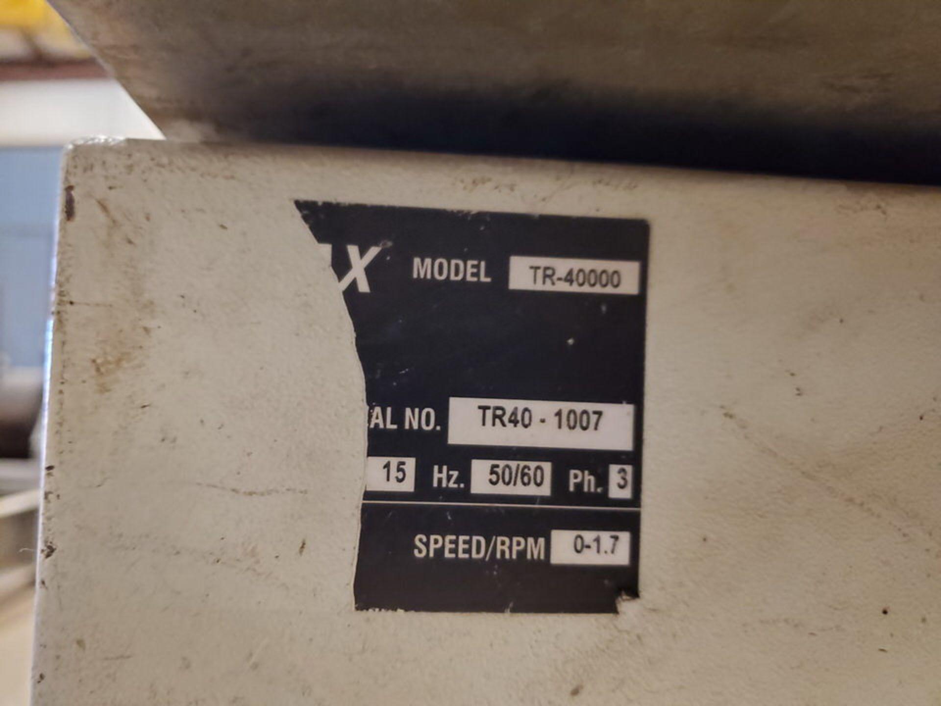 "Profax TR-40000 Turn Roll 40K Cap., 440V, 15A, 50/60HZ, 3PH, RPM: 0-1.7, 6"" Wheel Dia - Image 7 of 8"