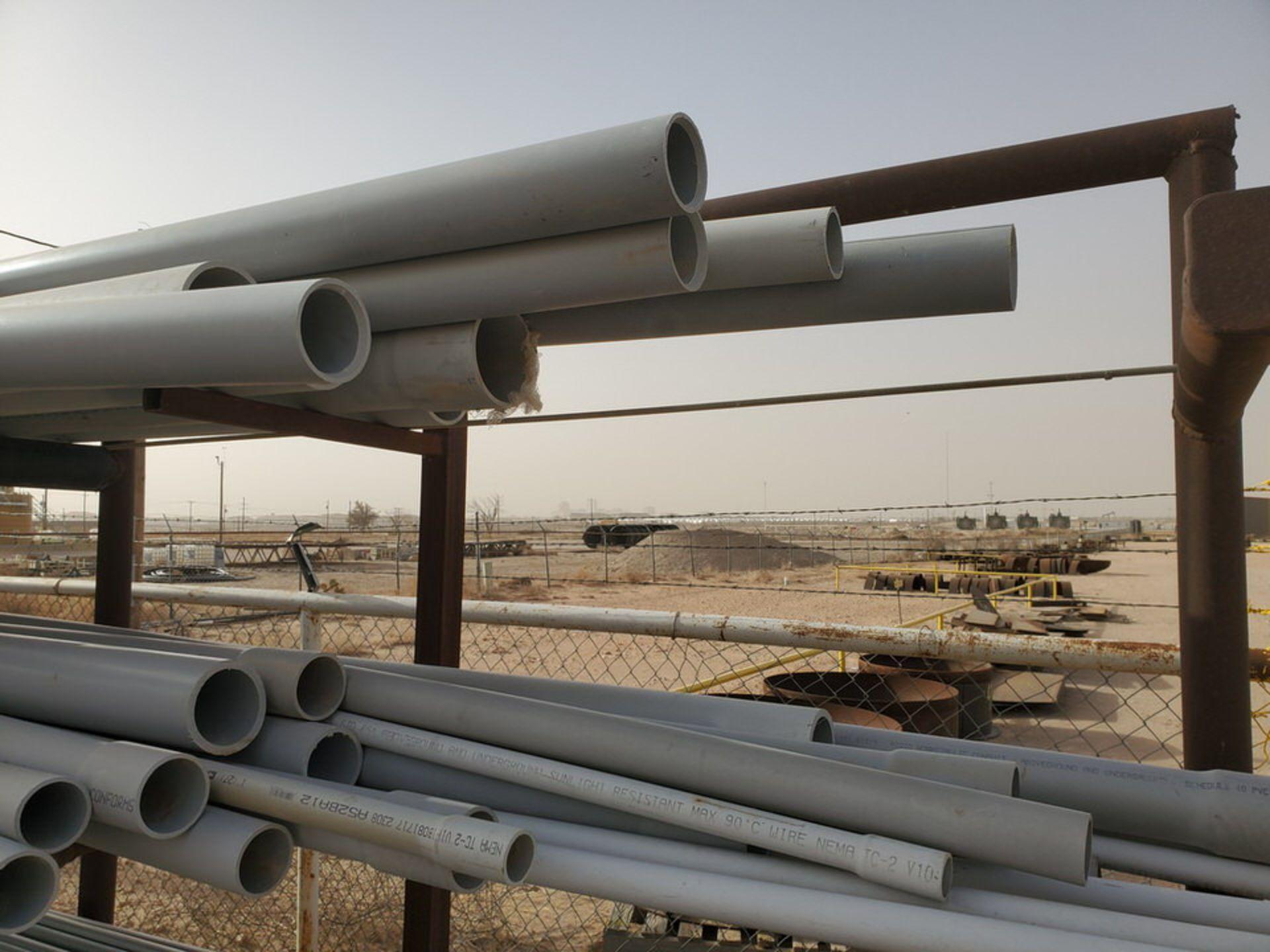 "PVC & Alum. Pipe W/ Conduit Size Range: 1/2"" - 4"" W/ Rack - Image 7 of 18"