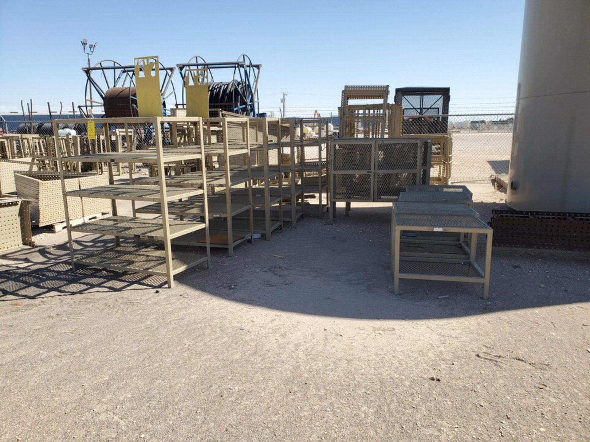 "Assorted Stl Matl. Racks & Ladders Size Range: 30"" x 26"" x 25""H - 29"" x 48"" x 50""H - Image 16 of 18"