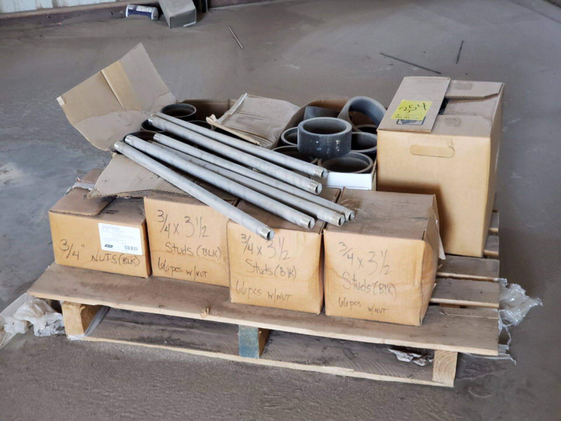 Assorted Material To Include But Not Limited To: Studs, Nuts, Couplings, S/S Nipples, Size Range: