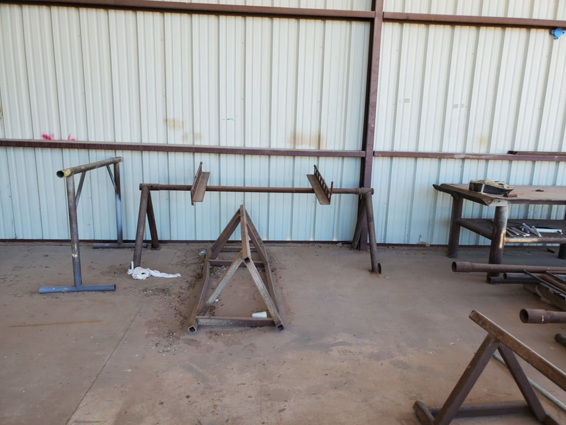 "Misc. Matl. To Include But Not Limited To: 42"" Drum Fan, Saw Horses, Welding Table, etc. - Image 9 of 10"