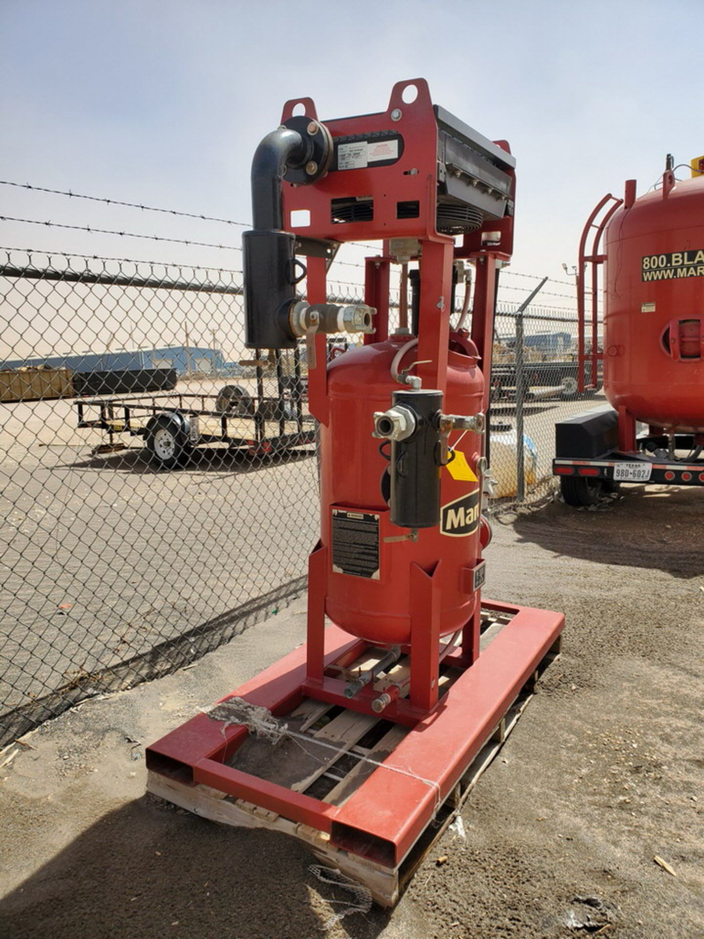 """2017 Marco Air Dryer 150psi@250F, -20@150psi, Vessel Dims: 30"""" Seam To Seam; Overall Dims: 72"""" x 35"""" - Image 3 of 11"""