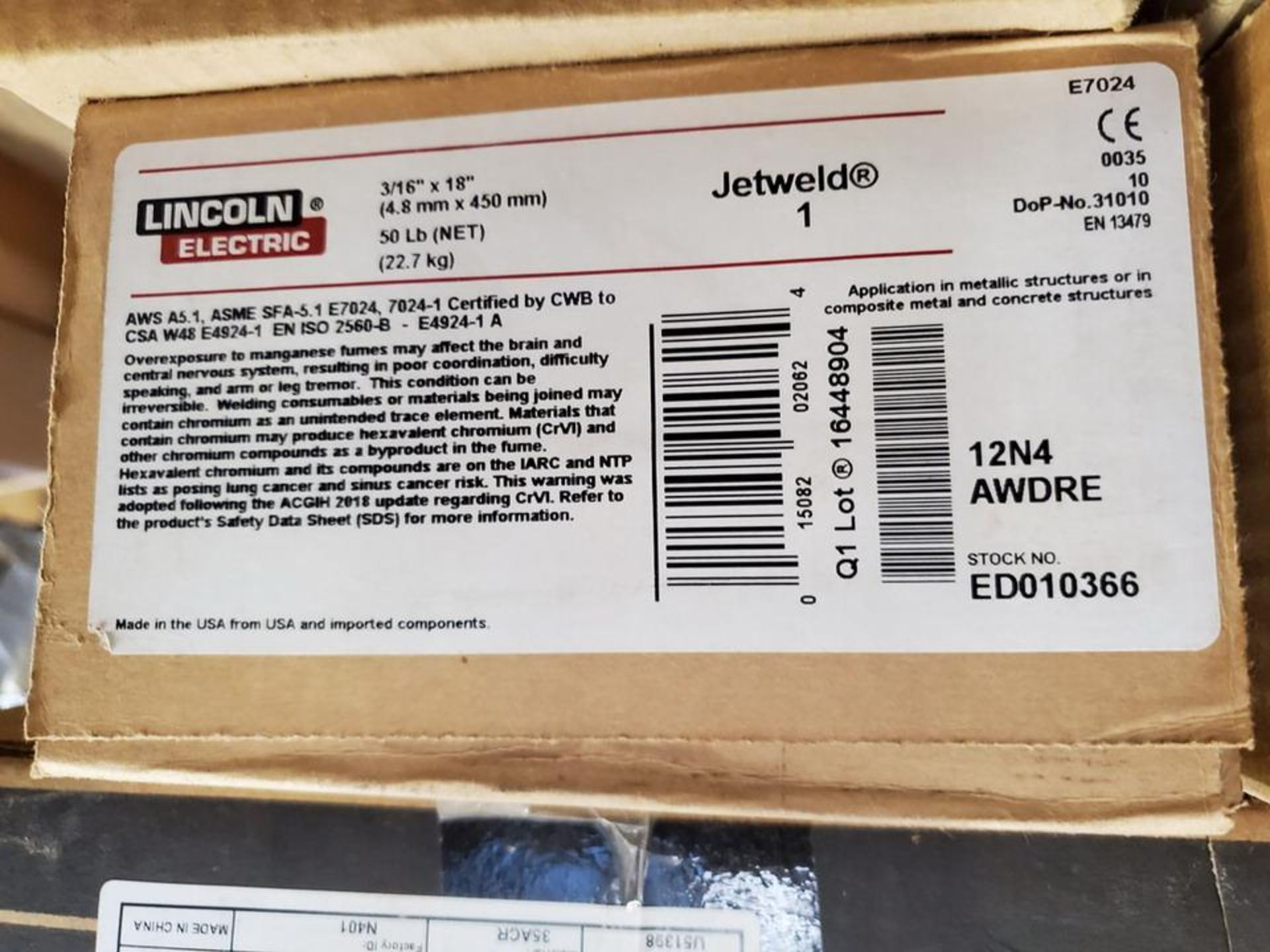 """LE Assorted Welding Rods Size Range: 5/32"""" x 14"""" 3/16"""" x 18"""" - Image 8 of 8"""