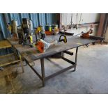 "(2) Stl Welding Tables (1) 72"" x 72"" x 37'H; (1) 51"" x 54"" x 37""H"