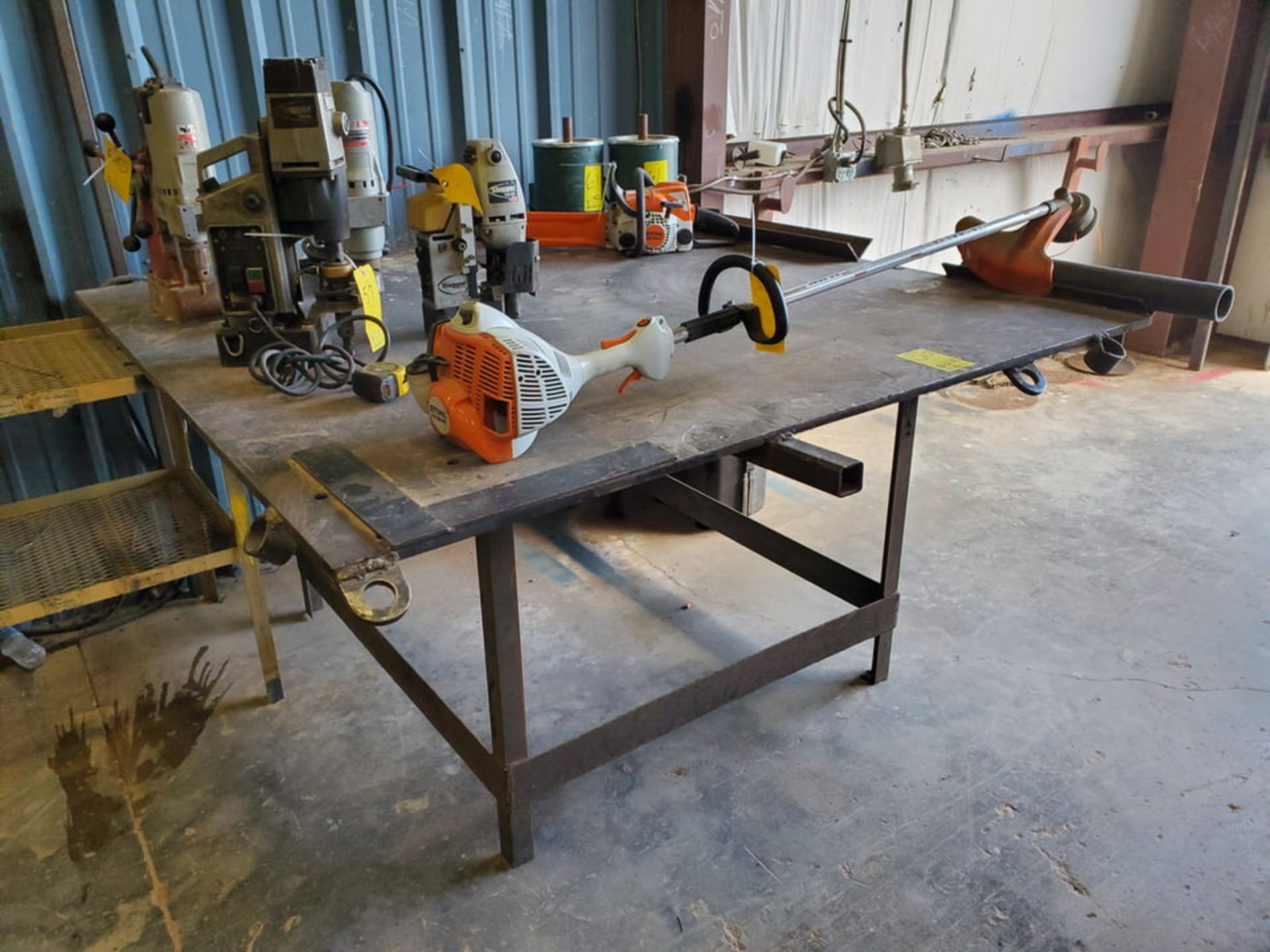 "(2) Stl Welding Tables (1) 72"" x 72"" x 37'H; (1) 51"" x 54"" x 37""H"