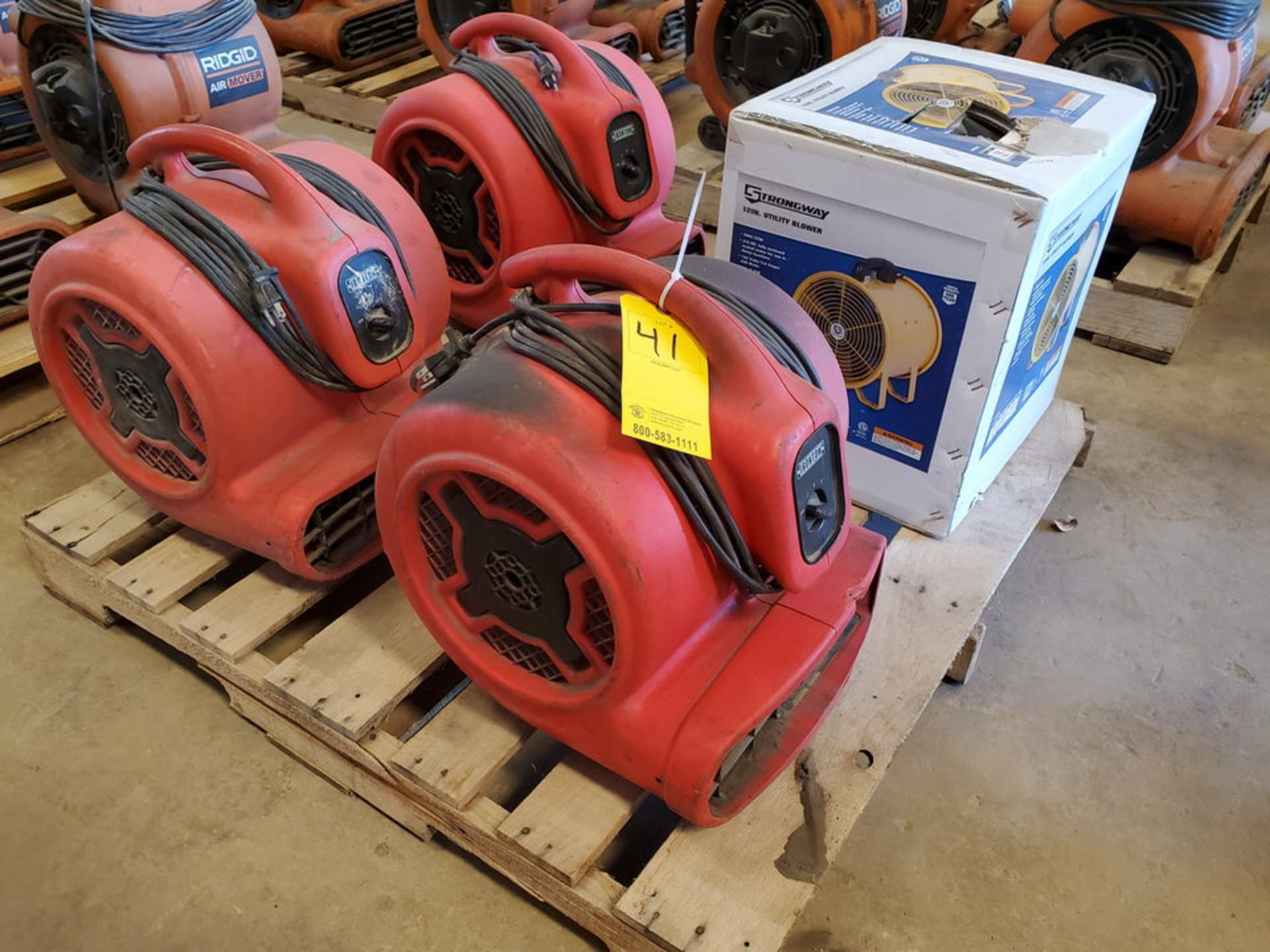 Strongway & Ironton (4) Air Blowers (3) 115V, 1HP, 8.5A; (1) 120V, 3.8A, 430W, 1300RPM - Image 2 of 5