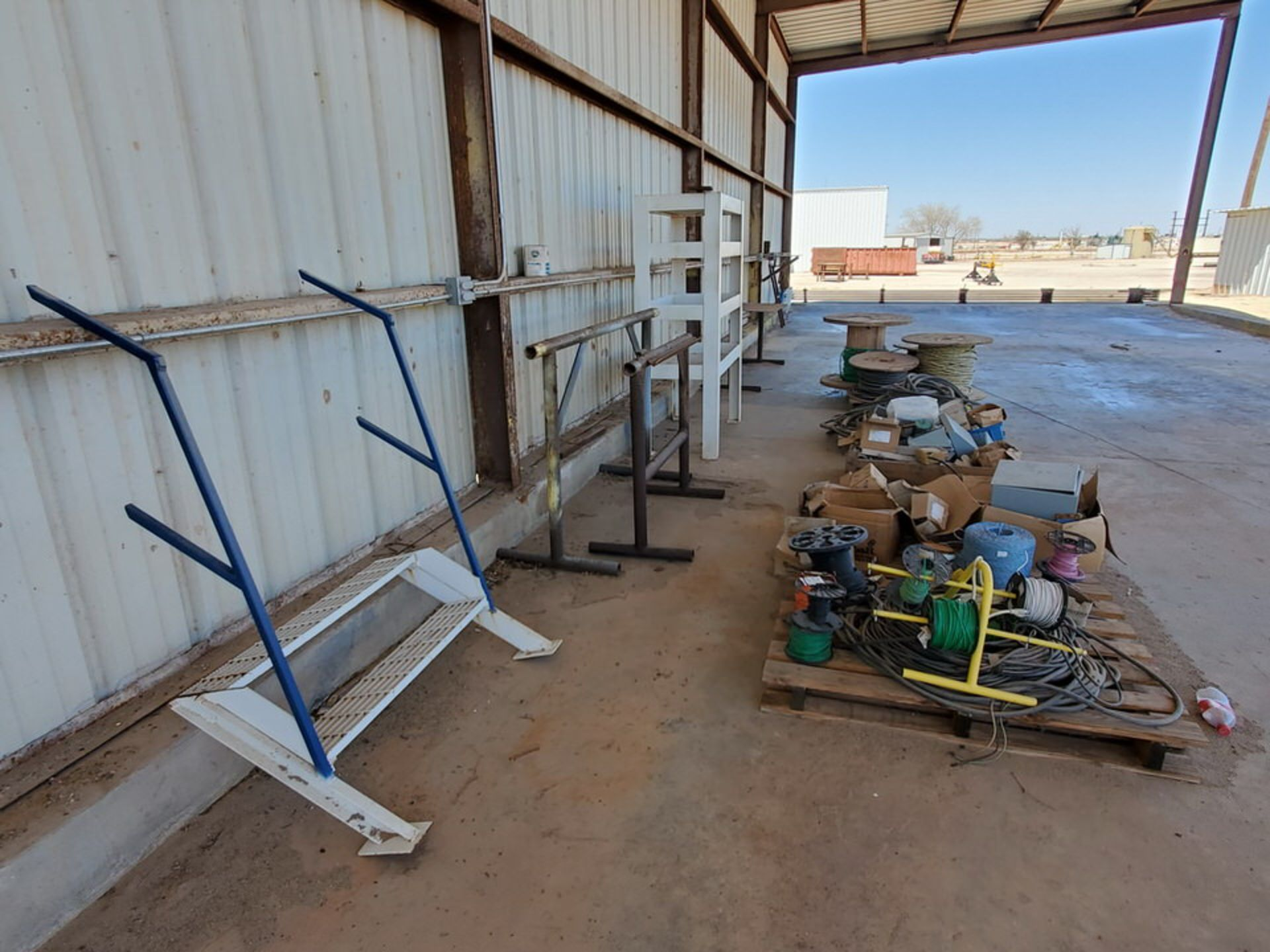 Misc. Matl. To Include But Not Limited To: Lift Basket, Welding Table, Sheet Metal, Ele Wire, Rope - Image 12 of 13