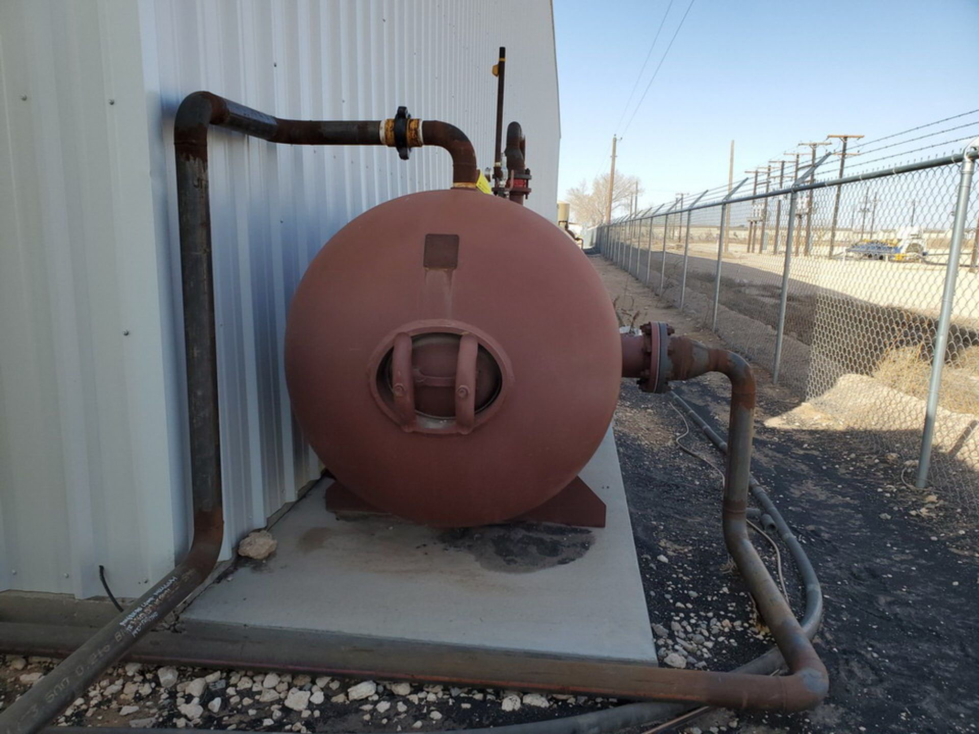 2012 Manchester Air Receiving Tank 4'Dia, 10' S/S; 200psi@400F, -20@200psi - Image 2 of 9