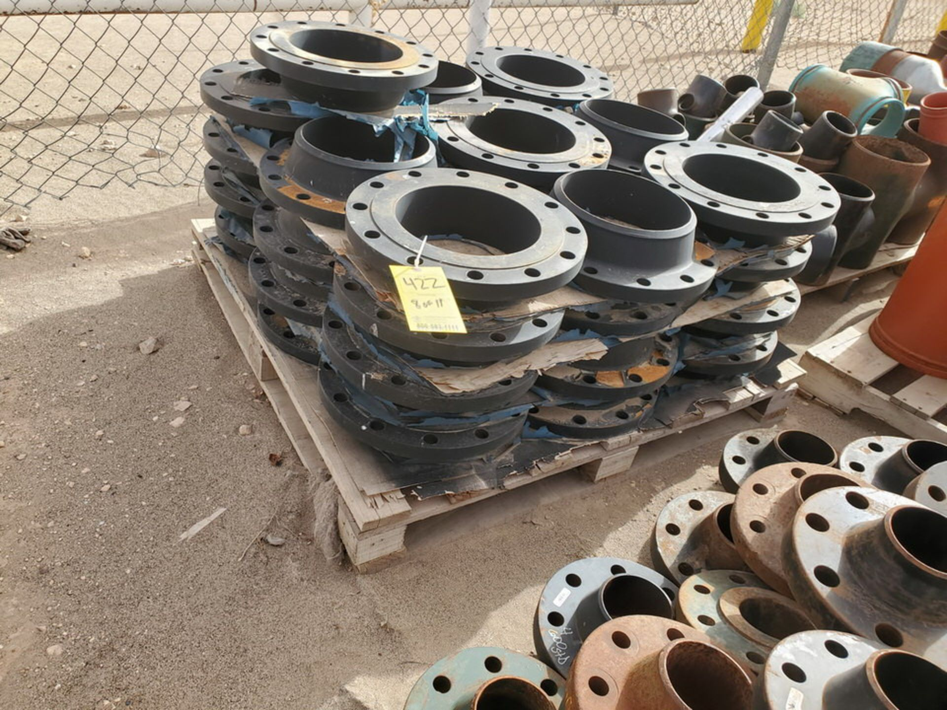 "Assorted Flanges (11) Pallets, Size Range: 1"" - 10"" - Image 17 of 32"