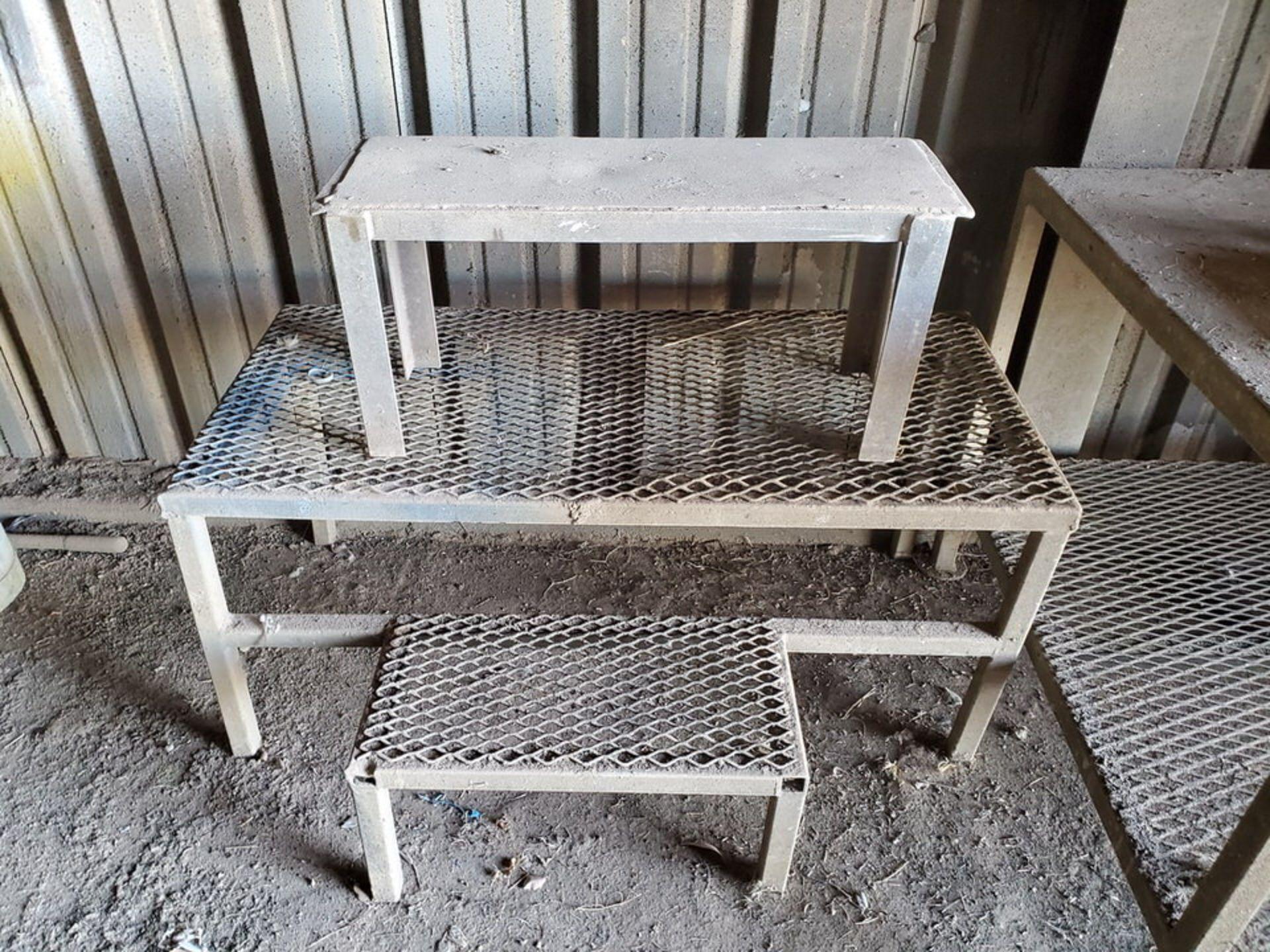 "Table & Platforms Size Range: 12"" x 30"" x 14"" - 40"" x 72"" x 33""; W/ Creeper Seat - Image 5 of 5"