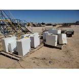 """(16) Chemical Storage Tanks Size Range: 17"""" x 17"""" x 7"""" - 24"""" x 24"""" x 9"""""""